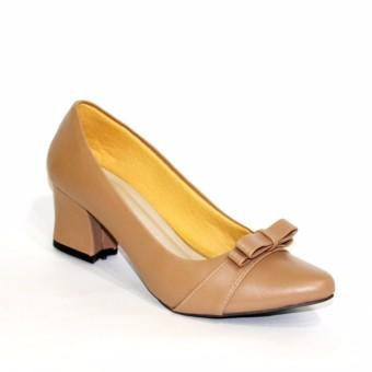 Marlee Sepatu Pantofel Wanita Block Heels PTA-02 Moca .