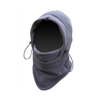 Masker Buff Balaclava Multifungsi Ninja Kupluk Polar 6 In 1 Full Face - Abu