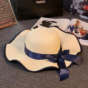 Matahari Topi Jerami Perempuan Musim Panas Orangtua Dan Anak Topi Pelindung  Sinar Matahari Pantai (Gelombang 7a71c63e0e