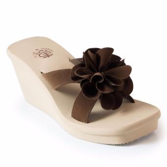 Megumi Sandal Wedges Buttercup - Brown