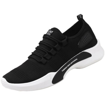 DJ Summer Men Sport Casual Shoe Man Bernapas Canvas Shoes (Hitam)