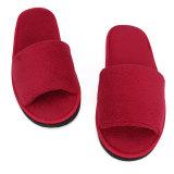 ... Pria Wanita Karang Ujung Kaki Terbuka Beludru Wisata Spa Hotel Rumah Sandal Sepatu Tebal 7mm Merah ...