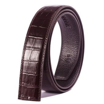 Men's Automatic Buckle Belt Double-sided First Layer Leather Belt Crocodile Pattern Belt Factory 3.5