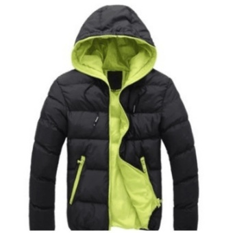 harga Pria Slim Kasual Hangat Jaket Hooded Winter Tebal Mantel Parka Mantel Hoodde Coat New (Dark Blue) -Intl Lazada.co.id