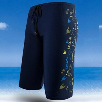 Men's fashion boxer swimming trunks 8727
