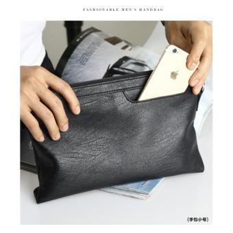 Mens - Handbag Pria   Clutch Cowok Tas Tangan Import - Black - YH1054 2391b3ab53