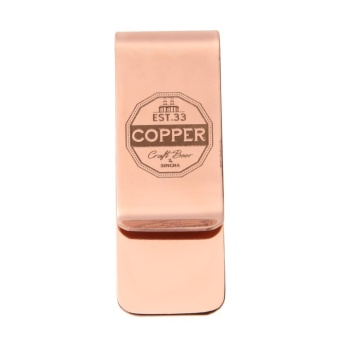 Metal Stainless Steel Money Clip Holder Folder Collar Clip(Rose Gold) - intl