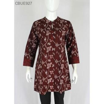 Mila Style - Baju Atasan Batik Wanita Tunik Motif Songket Batik Printing Batik Pekalongan Katun Sup