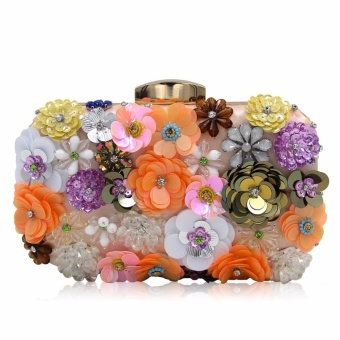 Milisente 2017 New Flower Women Clutches Champagne Beaded Clutch Bag Female  Small Party Bags Wedding Purse 76b4de4fc7