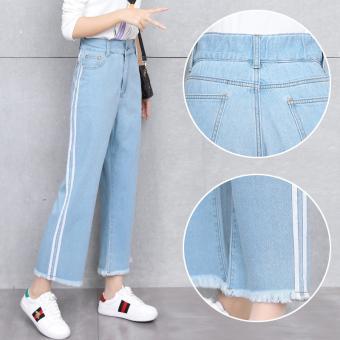 Kehebatan Celana Jeans Wanita Lurus Sepersembilan Garis Bar Berwarna