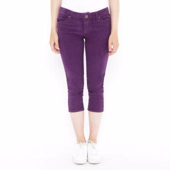 Mobile Power Ladies 7/8 Corduroy Pants - Purple K5706