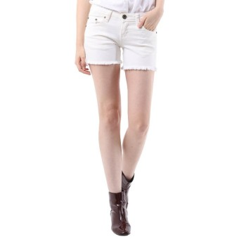 Basic Short Pants Rumbai White Mobile Power Ladies - F5510