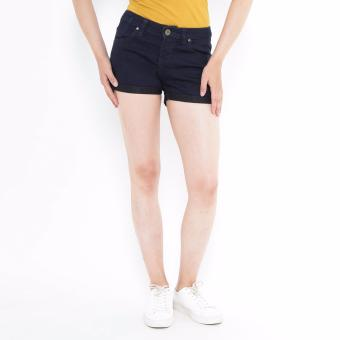 Denim Short Pants Navy Blue Mobile Power Ladies - H5523