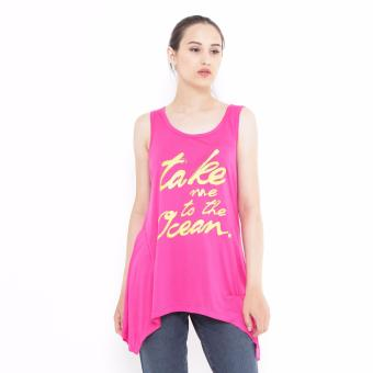 Mobile Power Ladies Sleevelessshirt Printing - Hot Pink J6835