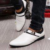 ... MUJIPOEM Pria Breathable Kulit Slip-On Sepatu Loafers Kasual Driver Sepatu 39-44 (