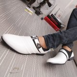 ... MUJIPOEM Pria Breathable Kulit Slip-On Sepatu Loafers Kasual Driver Sepatu 39-44 ...