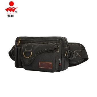 Multifungsi Tas Bahu Dengan Satu Tali Messenger Tas Pria Tas Pinggang (Hitam )