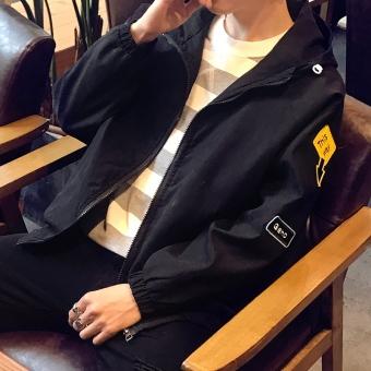 Jaket Kasual Pria Spesial Korea ([H90 Bagian Tipis Hitam]) ([H90