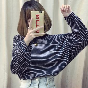 ... Panjang Longgar Wanita. Source · Musim Gugur Dan Musim Dingin Korea  Fashion Style Pakaian Luar Baju Dalaman Atasan (Hitam Dan 58fad5e353