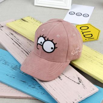 Topi Anak Topi Musim Semi dan Musim Gugur Anak Laki-laki Gadis (Merah muda