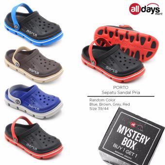 [BUY 1 GET 1] Porto Sepatu Sandal Kasual Pria Murah 1006 M - Random