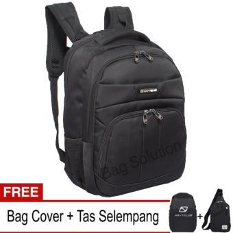 Navy Club Tas Ransel Laptop Tahan Air 5902 Backpack Up to 15 inch - Hitam (