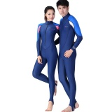 ... NBJU Sunscreen Body Long Sleeve Siamese Diving Suit - Blue + Pink - intl - 4 ...