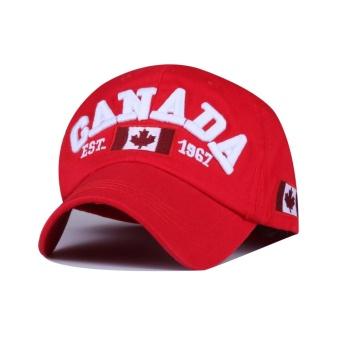 Baru Fashion Canada Gaya Hip Hop Baseball Hat Bordir Bisbol Topi Kerai  Melengkung 100% Cotton 1d28db257d