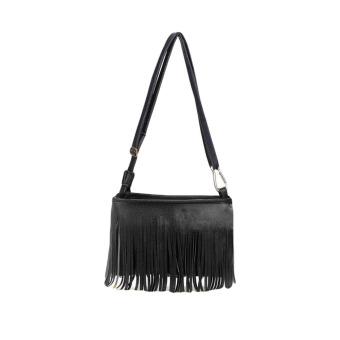 ... New Mini Fashion wanita tas bahu kulit PU rumbai pinggiran tas selempang tas Messenger Internasional