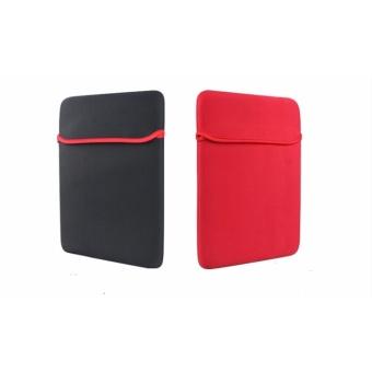New Tas Laptop Softcase Top Loaded Elastic Reversible Neoprene for Laptop 14 inch - Black