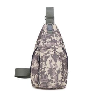 New Tas Selempang Canvas Army Pria Crossbody Bag / Slingbag - Grey