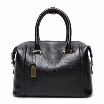 Baru Tas Wanita Tas Wanita Ladies Handbag Tas Kulit Asli Ladies Single Shoulder Bags Casual Tas Fashion Tas Boston Tas Hitam-Intl