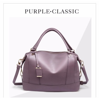 Baru Tas Wanita Tas Wanita Ladies Handbag Tas Kulit Asli Ladies Single Shoulder Bags Casual Tas Fashion Tas Boston Ungu-Intl