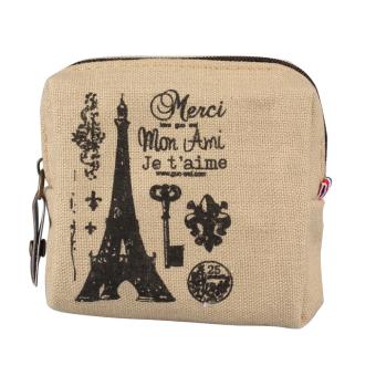 New Mini tas dompet wanita retro Childrens pemegang kartu kopling tas tangan Dril - Internasional