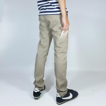 NHS Celana Chino Pria Pocket Straight Fit [Mocca]