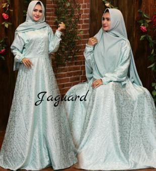 Fitur Baju Gaun Wanita Muslim Gamis Syari Pesta Premium Gliter Hitam