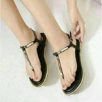 Harga Promo Sandal Teplek Hitam