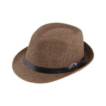 OH Topi Jerami Topi Yang Bergaya Musim Panas Trilby Topi Fedora Topi Panama Topi  Topi Jazz 57c890d34b
