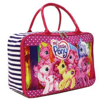 Onlan Travel Bag Karakter Lucu Bahan Kanvas Halus - Pink