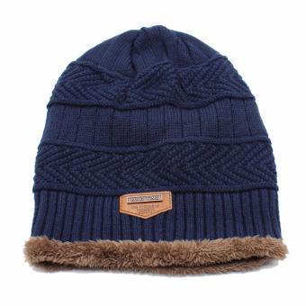 Ormano Topi Kupluk Wool Winter Fashion Hat Beanie s3609 - Biru