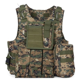 Outlife Kamuflase Berburu Militer Taktis Rompi Wargame Body Molle Armor Rompi Berburu CS Outdoor Jungle Peralatan