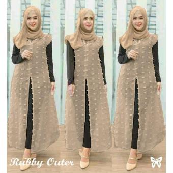 Pakaian Wanita Muslimah - Fashionble - Gamis Ruby Outer