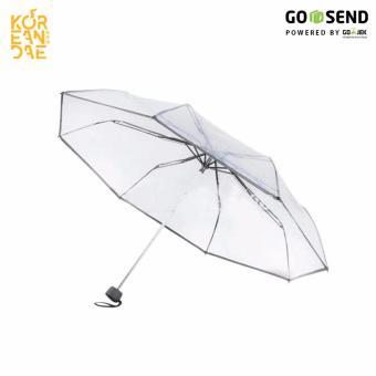 Payung Lipat Transparan Unik Korea Jepang - Payung Bening