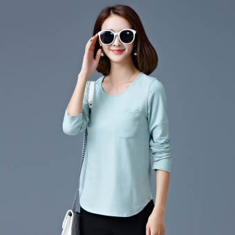 Lengan Lengan Panjang Wanita Musim Semi atau Musim Gugur Baru Musim Gugur Atasan Baju Dalaman (