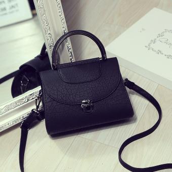 Persegi kecil Korea Fashion Style Mini musim panas tas kecil tas wanita ( Hitam terompet)