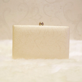 Persegi kecil sederhana tas rantai tas tas malam baru emas Clutch (Sampanye) (Sampanye