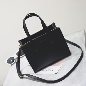 Persegi kecil Korea Fashion Style tas Messenger tas tas tas baru (Hitam) (Hitam