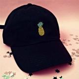 ... Nanas Bordir Topi Disesuaikan Bisbol Cap Unconstructed Girl Hip Hop Hat  Fashion Hitam-Intl - f401416f0d