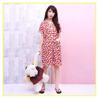 Pink Bunny Label Hello Kitty Daster - Merah