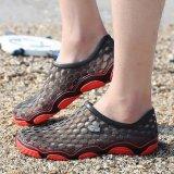 PINSV Pria Flats Sepatu Kasual Sandal (Hitam)-Intl - 5